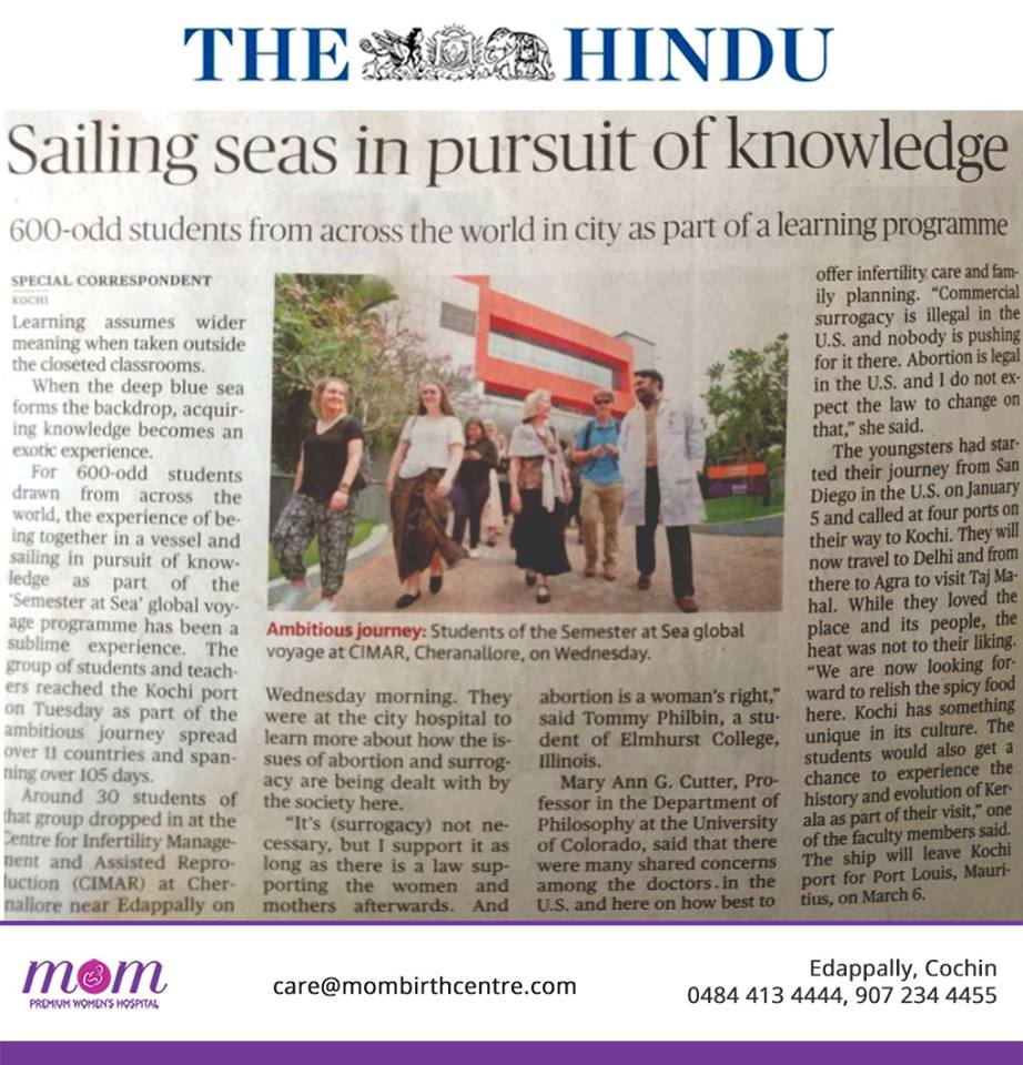 The Hindu Semester at Sea CIMAR MOM